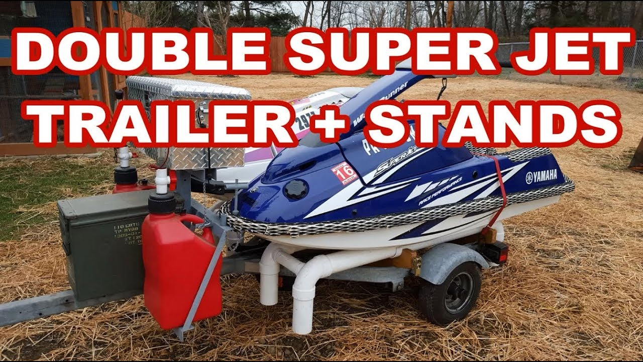 Custom Double Jetski Trailer For Standup Superjets Dual Pwc Youtube