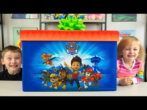Thumbnail: HUGE Paw Patrol Surprise Present from Santa Claus Christmas Toys for Boys Blind Bags Kinder Playtime