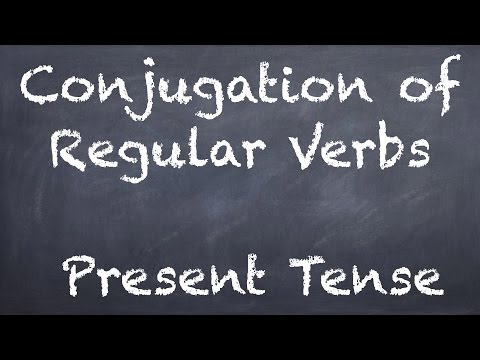 Conjugation of Regular Verbs - German 1 WS Explanation - Deutsch lernen