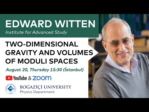 Edward Witten - Two-Dimensional Gravity And Volumes Of Moduli Spaces