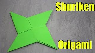 Como Fazer uma Shuriken de Papel - Origami (Remake)