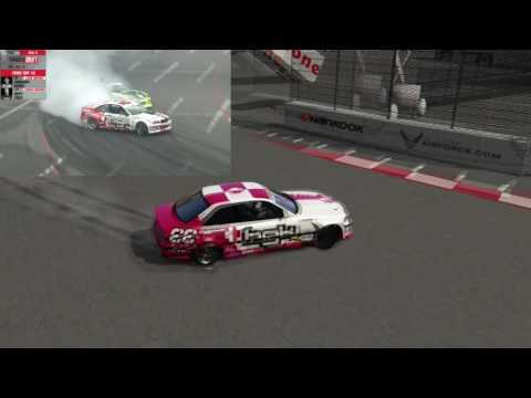 Fomula Drift Long Beach - Real vs Simulator Assetto Corsa