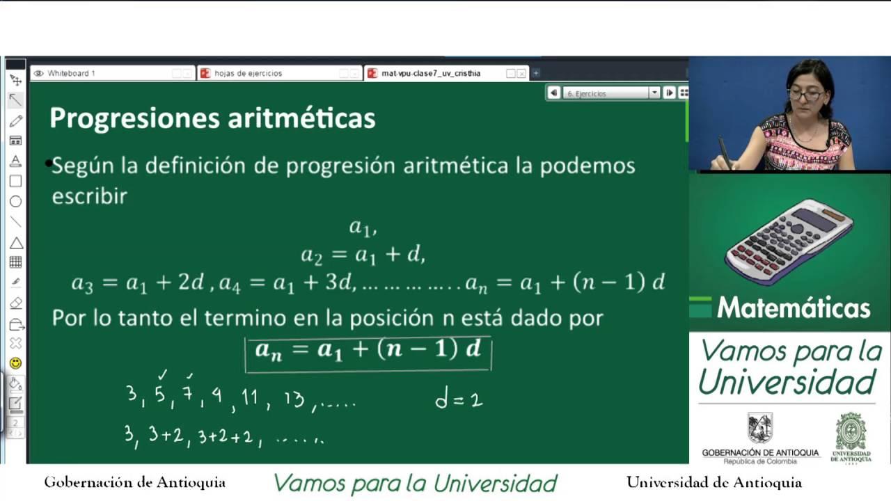 Matemáticas CLASE 7 - ( Alejandra Rodríguez) Progresiones ...