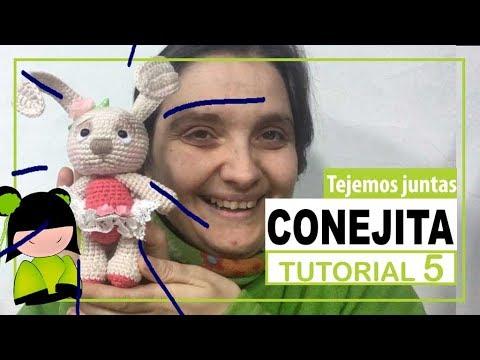Conejita amigurumi paso a paso | TEJEMOS JUNTAS? | Parte 5 | tip para mantener las orejas derechas