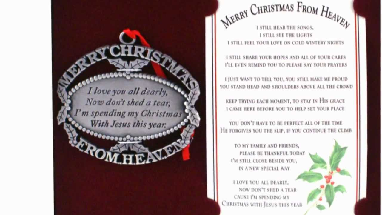 Merry Christmas From Heaven Ornament And Bookmark