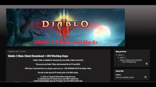 Diablo 3 Beta For PC & MAC Free Download + Free Beta Keys