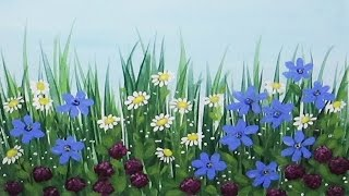 Wildflowers Acrylic Painting Time Lapse Speed painting