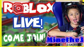 ROBLOX LIVE KID GAMER Face Cam Let's Play w/ MinetheJ, Jaden Crescendo Clean Fun No Profanity
