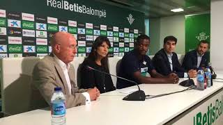 Presentación de William Carvalho con el Real Betis (Facebook Live)