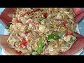 Shrimp,Pork Salad With Banana flower Recipe - Khmer Cooking Style By Kimyee Ros Cooking