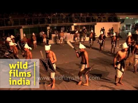 Maring tribal dance from Manipur state