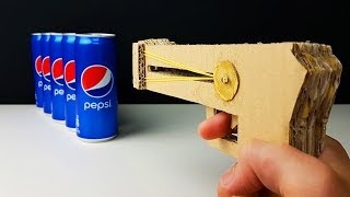 How To Make a Rubber Pistol from Cardboard!