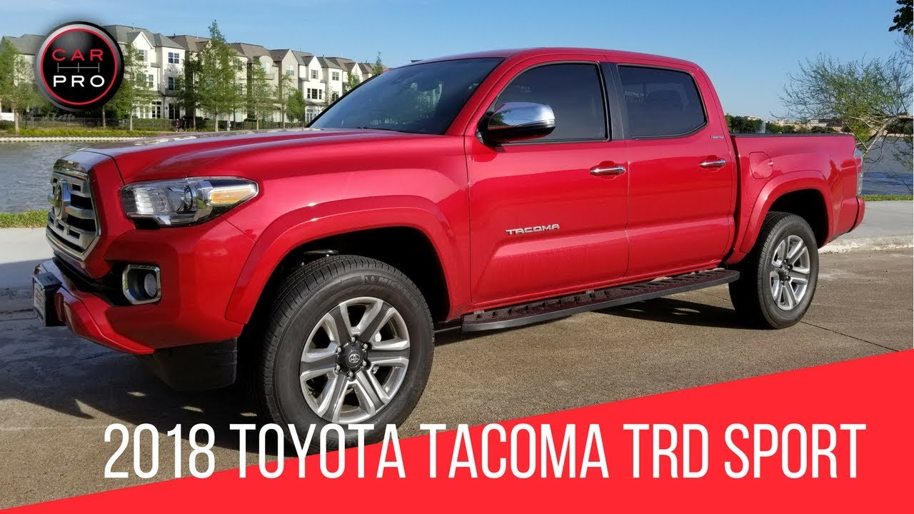 2018 Toyota Tacoma Trd Sport Test Drive Youtube