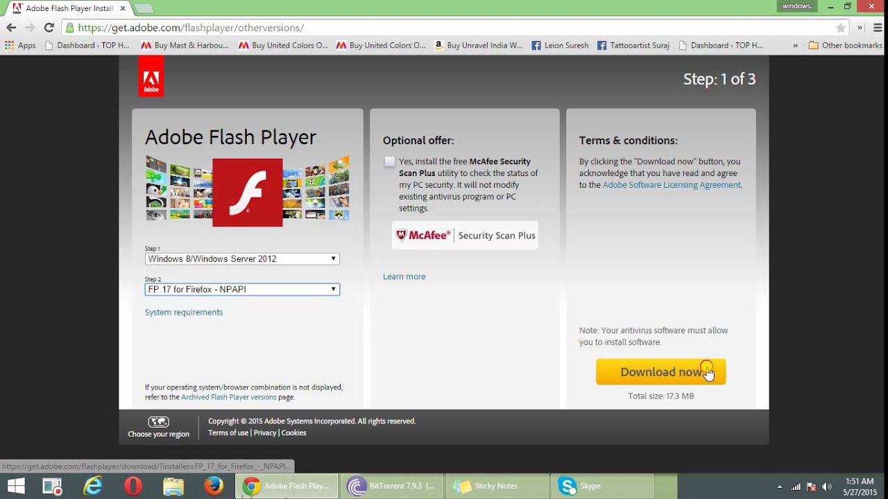 flash player download for windows 7 latest version