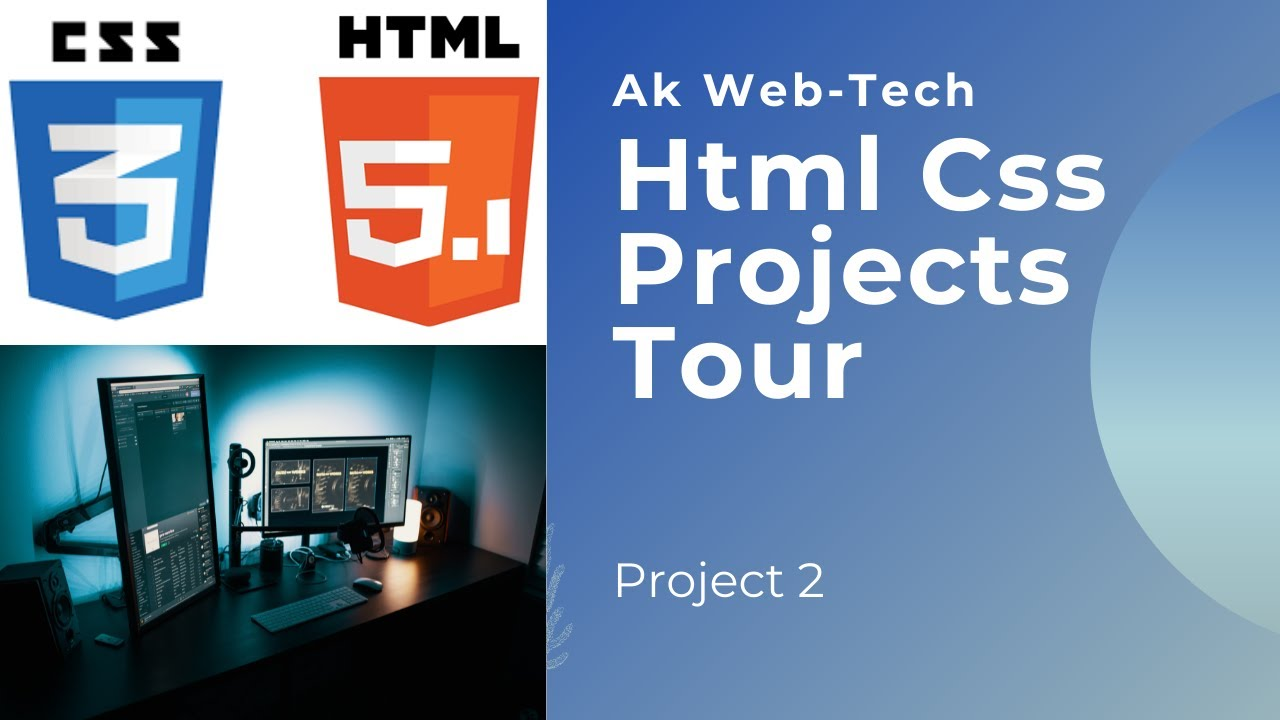 Html Css projects  tour -Part 2 building  pco application  from scratch.