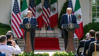Declaración Conjunta AMLO - Trump, presidente de EE. UU., desde Washington