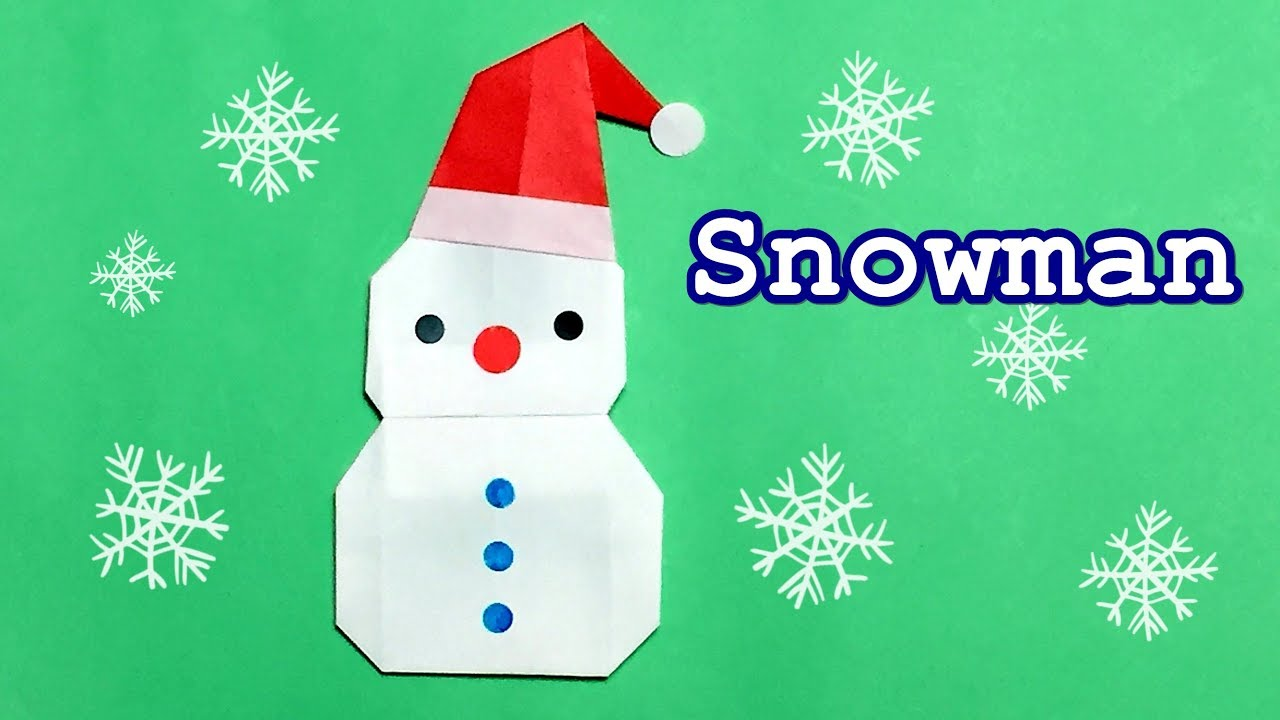 Christmas Ideas For Kids To Make.How To Make Origami Snowman Easy But Cool For Kids Christmas Decoration Ideas