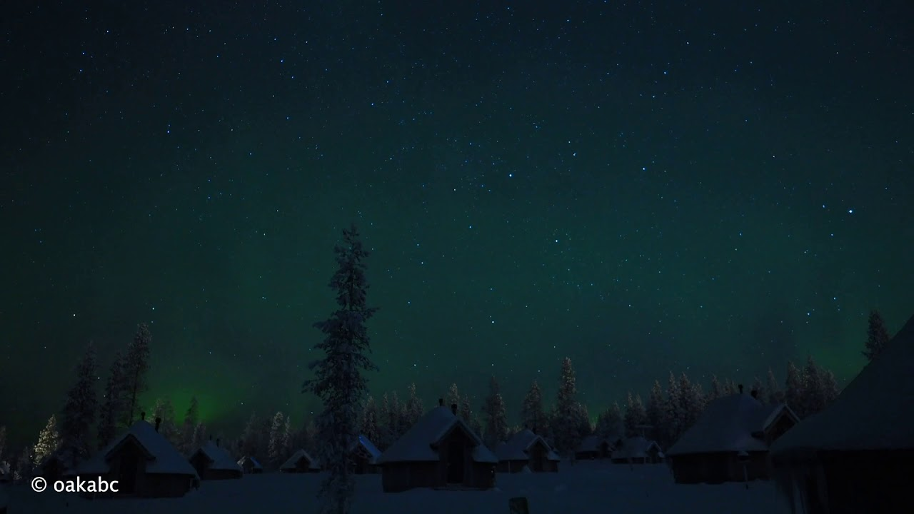 Aurora Timelapse from Northern Lights Village, Inari-Saariselka, Finland
