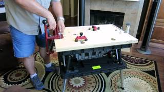 Portable Reloading Bench Using A Keter Folding Work Table.