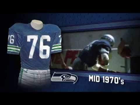 pretty nice d1e4a ff4c6 Seattle Seahawks uniform and uniform color history