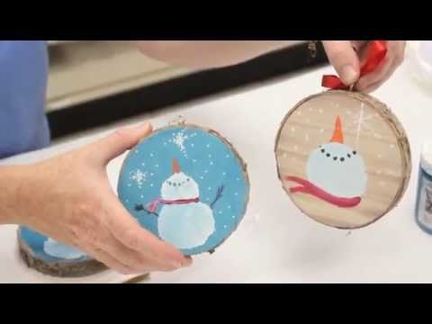 Crankin' Out Crafts -ep453 Snowman On Wood Coaster