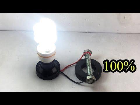 Смотреть Amazing Technology Free Energy Generator With Light Bulb 220V For Ideas 2020 онлайн