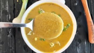Carrot And Moong Dal Soup (heart-friendly And Low Cholesterol Recipe) By Tarla Dalal
