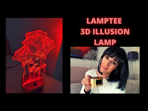 LED LAMP 3D Effect by LAMPTEE | Unboxing and Review | Perfect Gift 🎁