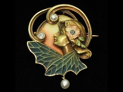 High quality art nouveau pendantbrooch with plique a jour enamel high quality art nouveau pendantbrooch with plique a jour enamel adin reference 10280 4337 mozeypictures Gallery