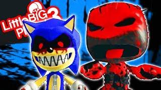 Sonic.EXE VS Sackboy.EXE - Play.Create.DIE - LittleBigPlanet 3 PS4 Gameplay