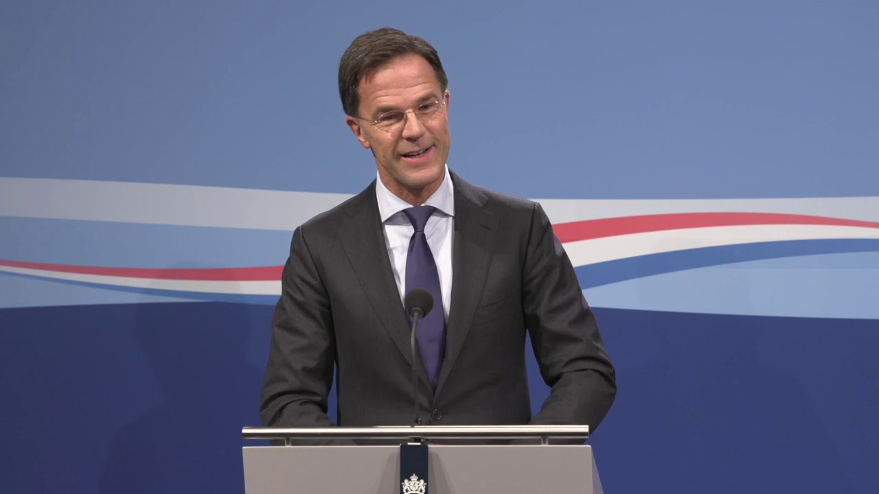Integrale Persconferentie Van MP Rutte Van 8 November 2019