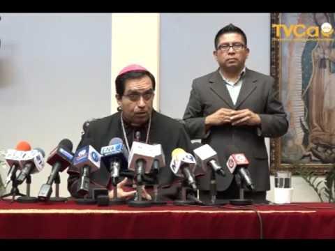 Conferencia de Prensa, con el Sr. Arzobispo. Mons. José Luis Escobar, 5 de Marzo