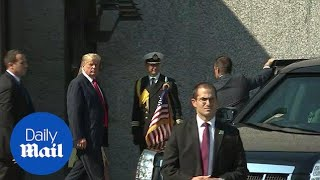 Donald Trump in Finland ahead of Putin meeting