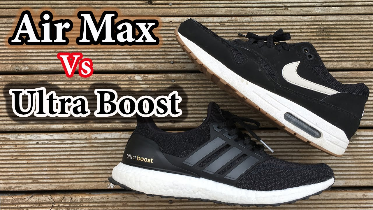 premium selection 0451f 691c6 Air Max vs Ultra Boost   Which BLACK looks better  Nike and Adidas  Comparison