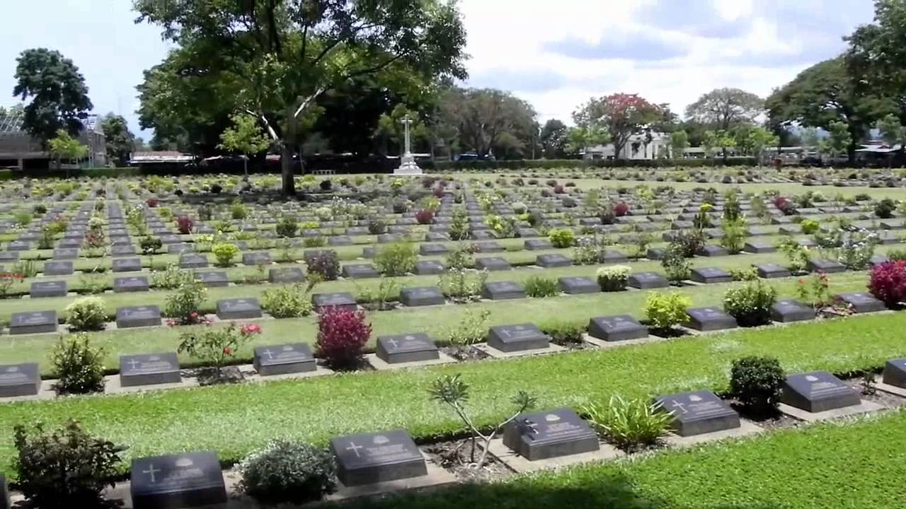 Kanchanaburi War Cemetery (Don Rak) Rec. May 2011 - YouTube