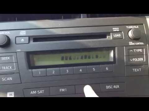 2010 Toyota Prius III radio not display text or working correctly
