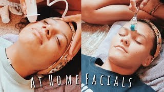 We gave each other at home facials