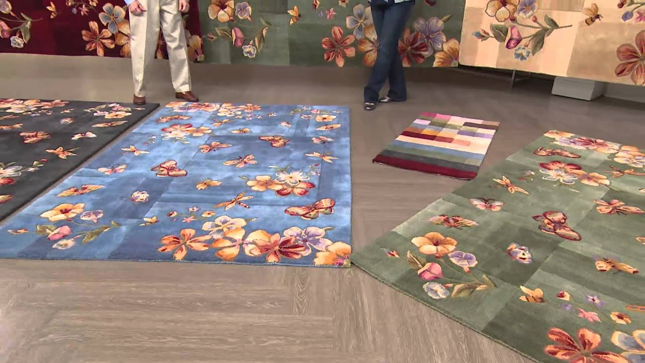 Royal Palace Erfly Radiance 3 X 4 9 Wool Rug With Jill Bauer