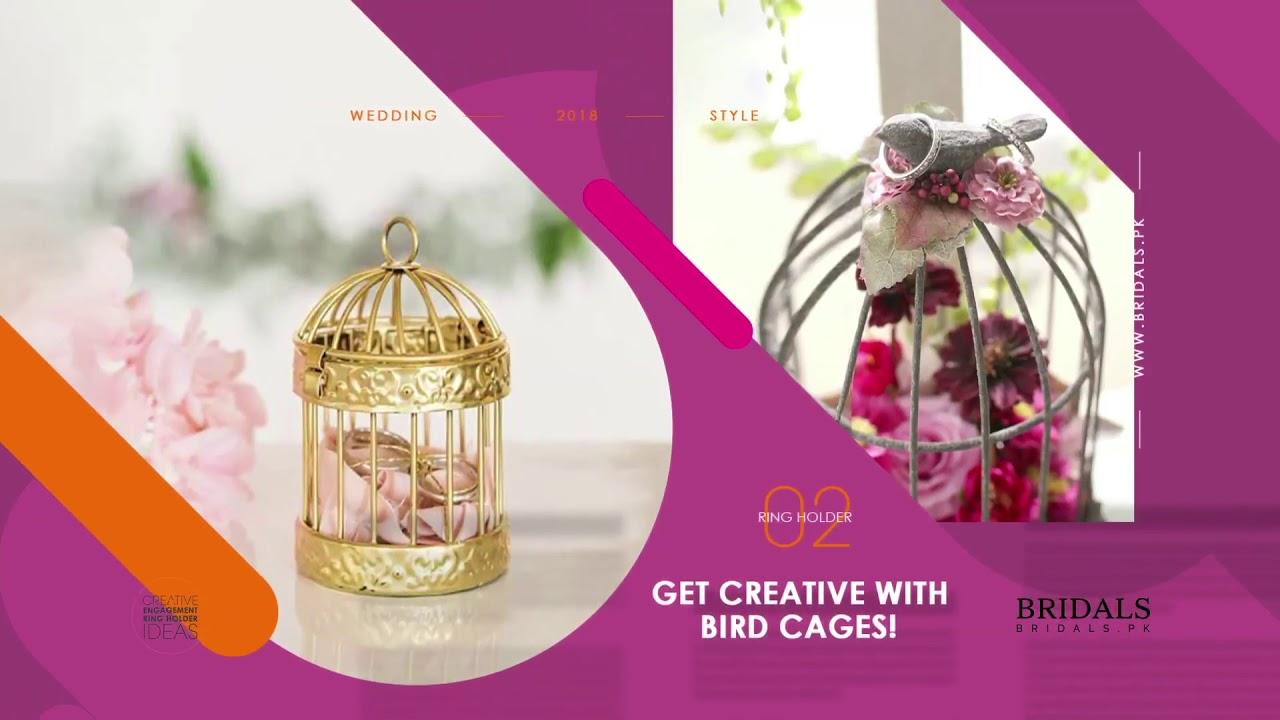 Creative Engagement Ring Holder Ideas - YouTube