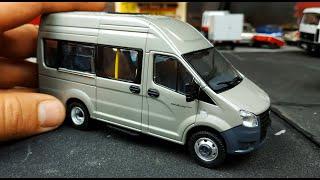 Модель микроавтобуса Газель Некст масштаб 1/43 Наш Автопром распаковка и обзор модельки! Про машинки