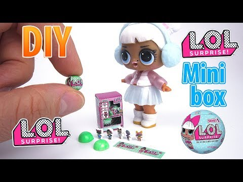 DIY Miniature LOL Surprise Dolls series 2 Box | DollHouse