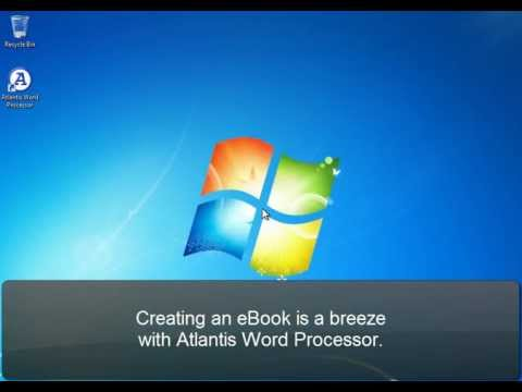 Atlantis Word Processor. Creating eBooks (Part 1). Introduction.