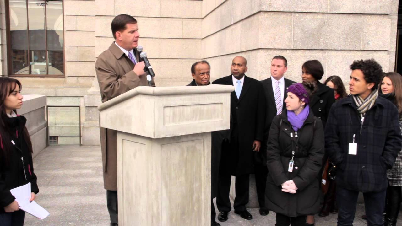 Boston Mayor Marty Walsh Speaks at the Museum of Fine Arts, Boston, on MLK Day