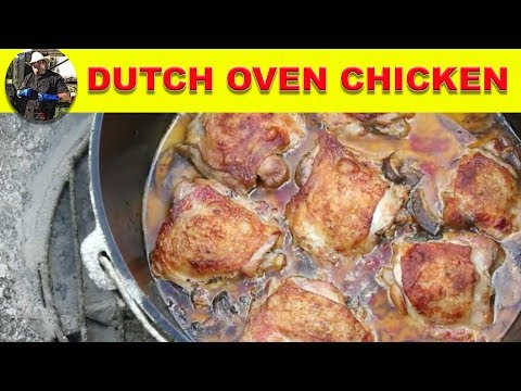 Dutch Oven Cooking - Italian Style Roasted/Braised Chicken Thighs