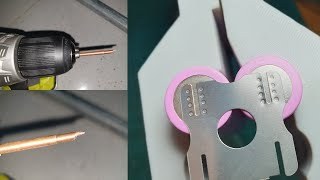 Make A Copper Needles Spot Welding When No Lathe Machine