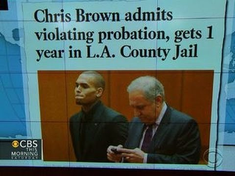 Chris Brown gets one-year jail sentence for violating probation