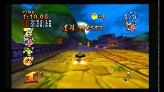 Crash Nitro Kart 101% Run Part 1: Terra - Trophies and Key