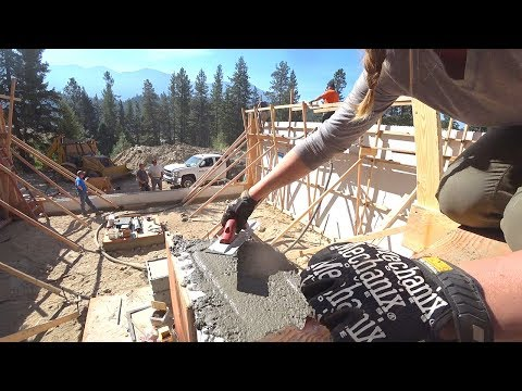 ICF WALL & CONCRETE POUR DURING A SOLAR ECLIPSE!
