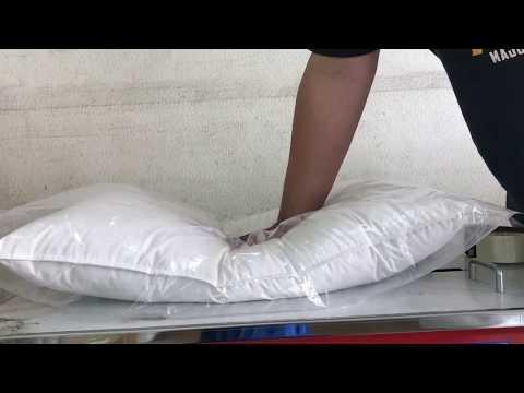 中枕1.5kg,羽絨枕、羽毛枕、枕頭(非羽絲絨)-100%台灣生產製造,雙層防絨表布,四邊雙針(1)