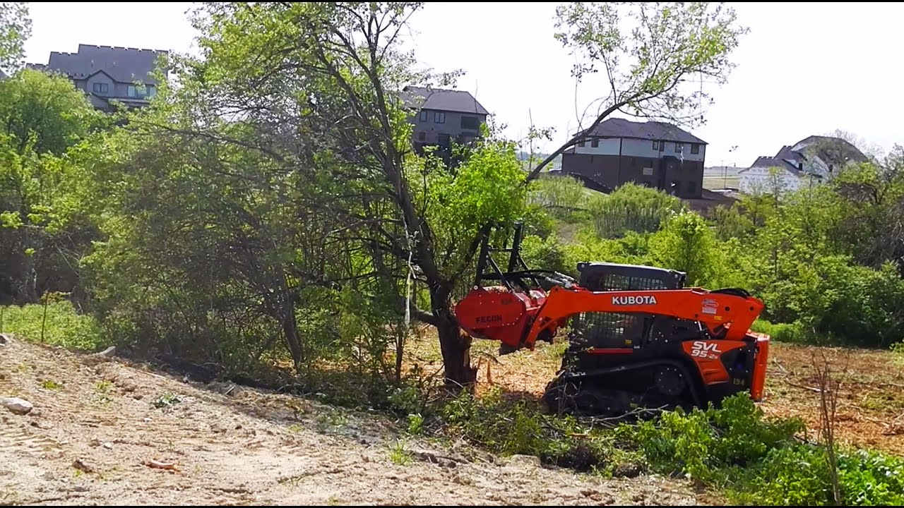Product Spotlight: Fecon Mulcher Powered by a Kubota SVL95 2S Compact Track  Loader